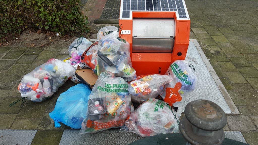 Opnieuw schriftelijke vragen problemen afvalinzameling plastic