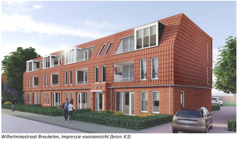 12 levenloopbestendige sociale woningen Wilhelminastraat Breukelen