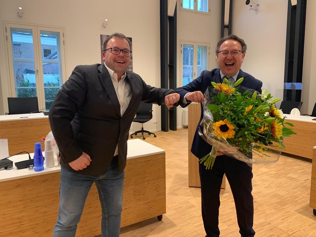 Olaf Morel in de raad van 11 mei benoemd als raadslid van Lokaal Liberaal
